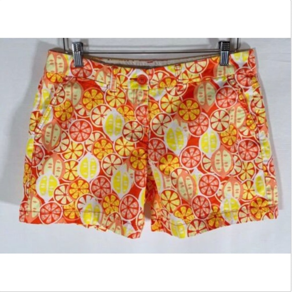 crown & ivy Pants - Crown and Ivy Shorts Size 8 women's yellow orange